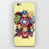 avenger iPhone & iPod Skins featuring The Avenger by rendhy wahyu