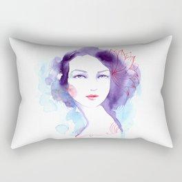 Nicole. Watercolor painting. Rectangular Pillow