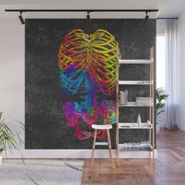 Swirly Bones (color) Wall Mural