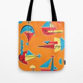 Atomic Sail Boats Tote Bag