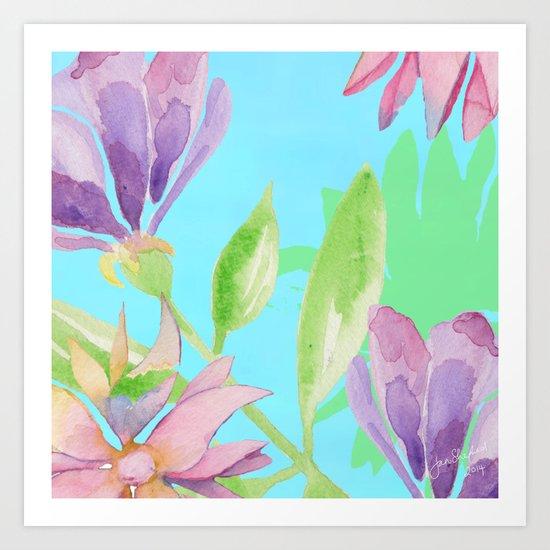 Exotic floribunda Art Print