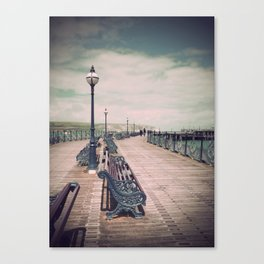 Swanage Pier Antique Canvas Print