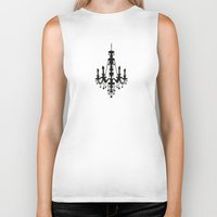 chandelier Biker Tanks featuring chandelier by Fairytale ink