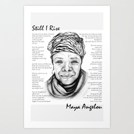Still I Rise Print Maya Angelou Poem Art Print