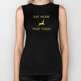 Eat More Fast Food Biker Tank