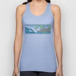 Ala Moana Diamond Head Hawaiian Surf Sign Unisex Tank Top