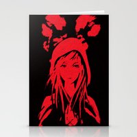 red riding hood Stationery Cards featuring Miss Red riding hood  by Sammycrafts