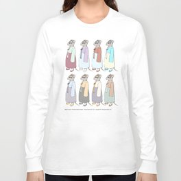 Nathalie Unseen: Mouse Queen color study Long Sleeve T-shirt
