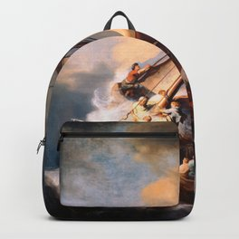 The Storm On The Sea Of Galilee Painting By Rembrandt Backpack