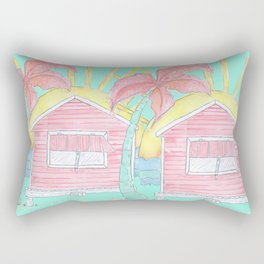 Beach Shack Vibes Rectangular Pillow