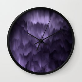 Purple and black. Abstract. Wall Clock