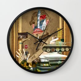 King Lui XL Collage Wall Clock