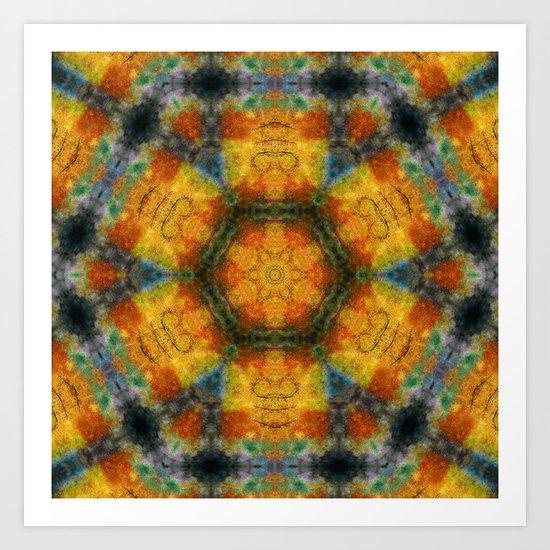 Colours of Nature Mandala Art Print