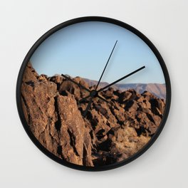 Rocks in Death Valley Wall Clock