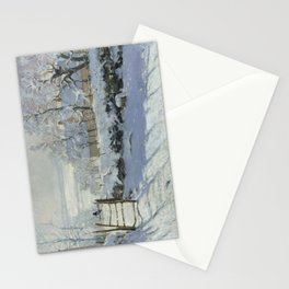 Monet, The Magpie (La Pie) (Die Elster) 1868-1869 Stationery Cards