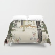 nature's way the deer Duvet Cover