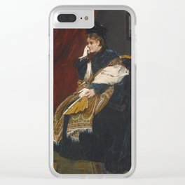 ALFRED STEVENS BELGIAN 1823 - 1906 WOMEN IN GREEN IN THE WORKSHOP Clear iPhone Case