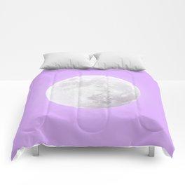 WHITE MOON + LAVENDER SKY Comforters
