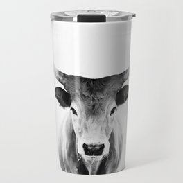 Honey - black and white Travel Mug