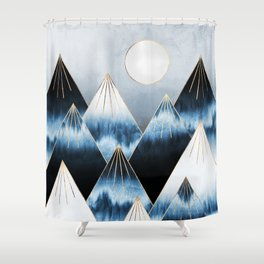 Frost Mountains Shower Curtain