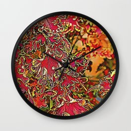 colorful plant leaves in the garden Wall Clock