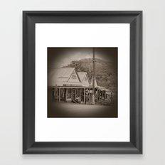 Vintage Town View Framed Art Print