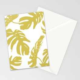 Simply Mod Yellow Palm Leaves Stationery Cards