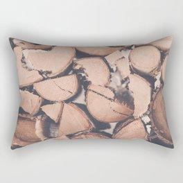 Wood Pile Rectangular Pillow