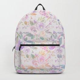Modern lavender lilac pink watercolor floral Backpack