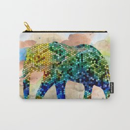 Design 37 Mosaic Elephant Carry-All Pouch