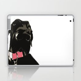 Great Dane Dog (black-pink collar) Laptop & iPad Skin