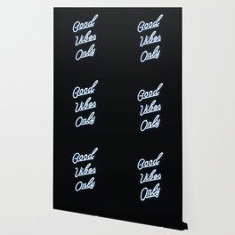 Good Vibes Only Neon Sign Print Wallpaper
