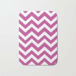 Red-violet (Crayola) - violet color - Zigzag Chevron Pattern Bath Mat