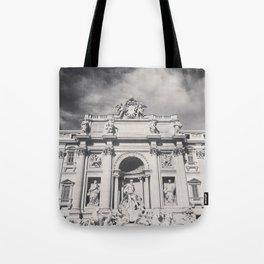 Trevi Fountain, black & white photography of Rome, fine art architecture, italian architectural love Tote Bag