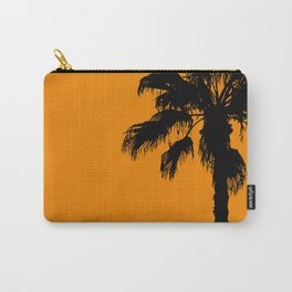 Palm trees on tangerine Carry-All Pouch
