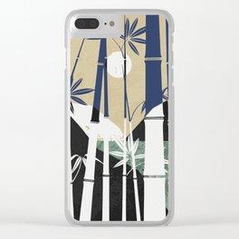 Sea bamboo landscape Clear iPhone Case