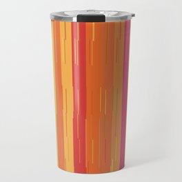 Orange and Yellow Stripes and Lines Abstract Travel Mug