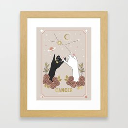 Cancer Zodiac Series Framed Art Print