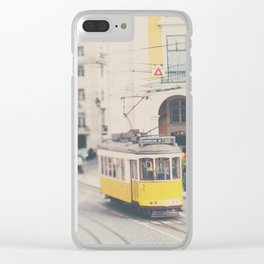 city trams ...  Clear iPhone Case