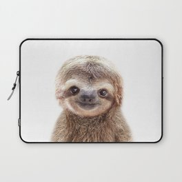 Baby Sloth, Baby Animals Art Print By Synplus Laptop Sleeve