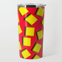 yellow square holes Travel Mug