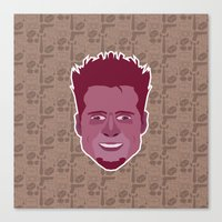 tyler durden Canvas Prints featuring Tyler Durden - FightClub by Kuki