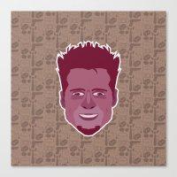 tyler durden Canvas Prints featuring Tyler Durden - FightClub by Kuki