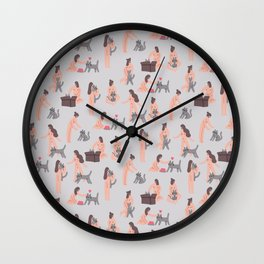 Everyday is a Cat Day Wall Clock