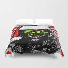 Evil Old St Nick Duvet Cover