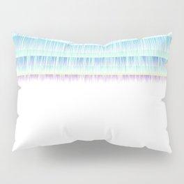 Paint abstract blue pattern nature garden Pillow Sham