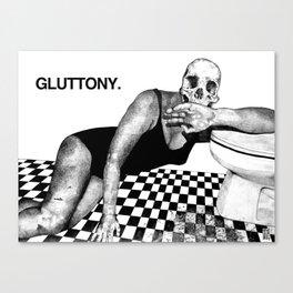 SEVEN DEAD SINS : GLUTTONY. Canvas Print