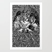 sister Art Prints featuring SISTER  by DIVIDUS