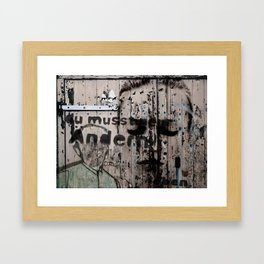 Change is a positive act Framed Art Print
