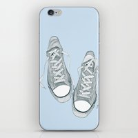 converse iPhone & iPod Skins featuring Converse by maeveelectro